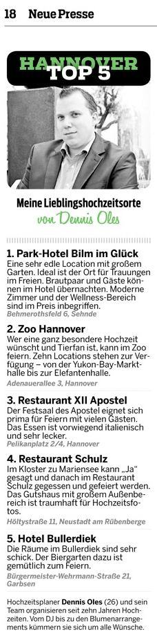 Hannovers Top Hochzeitslocations